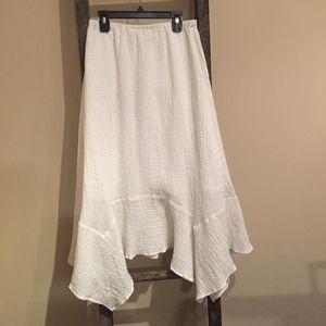 SUNDANCE White Boho Maxi Skirt - Small